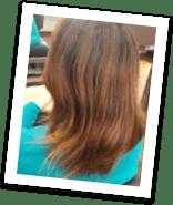 くせ毛の写真