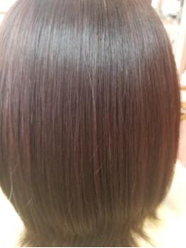 くせ毛を改善 縮毛矯正クセストパー施術後