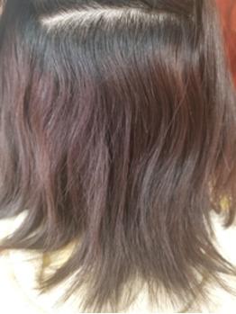 髪の中側はクセがある髪質 クセストパー【前】