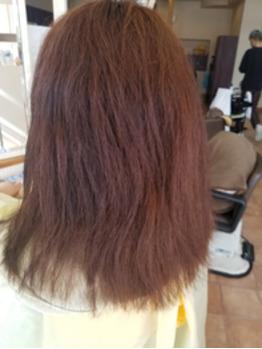 クセの強い髪の毛