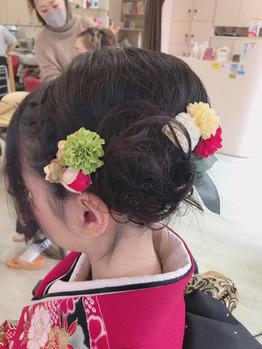 成人式着付けヘアセット 美容室CAZUYO